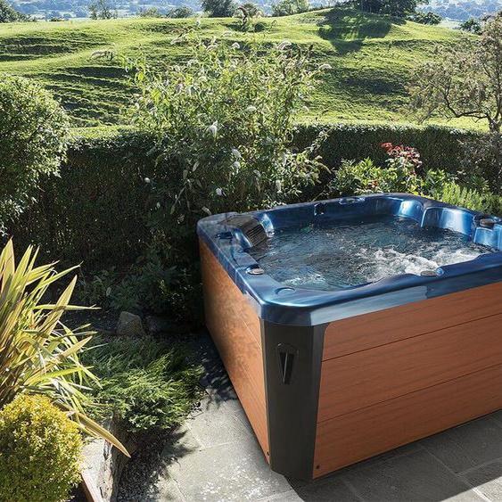 Whirlpool blau / braun Outdoor mit LED SOMBRERO