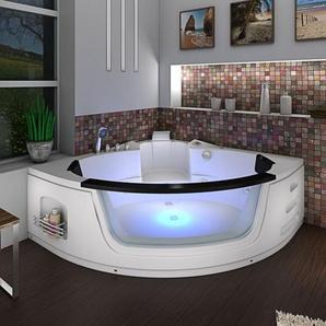 Whirlpool Pool Badewanne Eckwanne Wanne A1505N-ALL 140x140cm Reinigungsfunktion -16616- mit Radio und Farblicht / mit aktiver Schlauchreinigung - ACQUAVAPORE