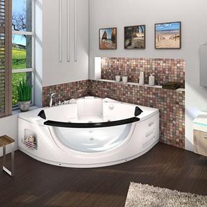 Whirlpool Pool Badewanne Eckwanne Wanne A1506N-ALL 152x152cm Reinigungsfunktion -13832- ohne Radio und Farblicht / mit aktiver Schlauchreinigung - ACQUAVAPORE