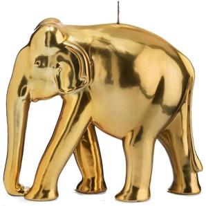 Wiedemann BIG Edition dekorative Kerze »Elefant«, goldfarben