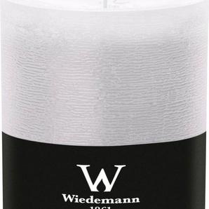 Wiedemann Marble durchgefärbte Kerze mit Banderole im 4er-Set, Ø 9,8 cm in 2 Größen