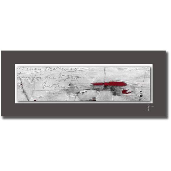 Wiedemann Unikat AUF Alupassepartout Abstraktes , Mehrfarbig , 50 cm