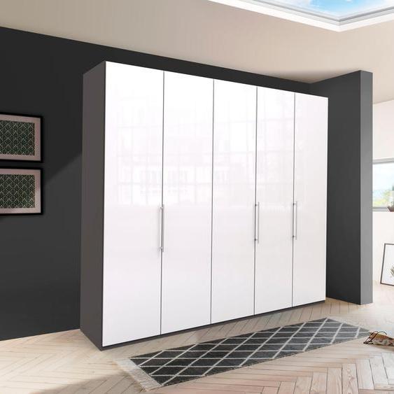 WIEMANN Falttürenschrank Loft 250 x 216 58 (B H T) cm, 5-türig, 5-türig weiß Drehtürenschränke Kleiderschränke Schränke