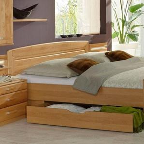 WIEMANN Funktionsbett Lausanne, teilmassiv Liegefläche B/L: 180 cm x 200 cm, kein Härtegrad beige Doppelbetten Betten