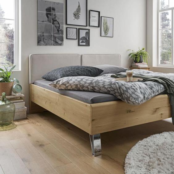 WIEMANN Holzbett Bari 180x200 cm Höhe Bettseite: 48 cm, ohne Matratze beige Massivholzbetten Betten