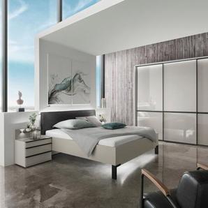 Wiemann Schlafzimmer-Set, Grau, Glas