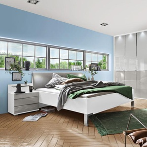 Wiemann Schlafzimmer-Set, Weiß, Glas