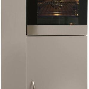 wiho Küchen Backofen/Kühlumbauschrank Peru B/H/T: 60 cm x 165 grau Umbauschränke Küchenschränke Küchenmöbel
