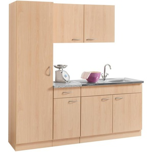 wiho Küchen Küchenblock Kiel, Breite 190 cm mit 28 mm starker Arbeitsplatte, Tiefe 50 cm