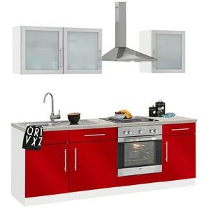 WIHO-Küchen »Aachen« Küchenzeile mit E-Geräten, Breite 220 cm