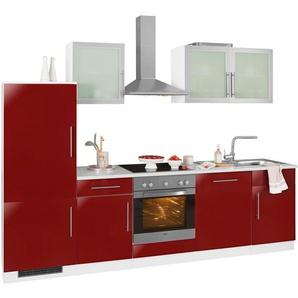 WIHO Küchen Küchenzeile »Aachen« mit E-Geräten, Breite 280 cm