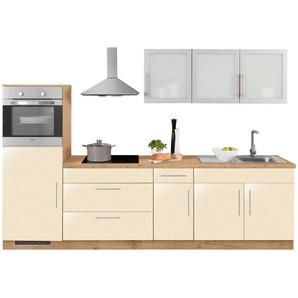 WIHO Küchen Küchenzeile »Aachen« mit E-Geräten, Breite 290 cm