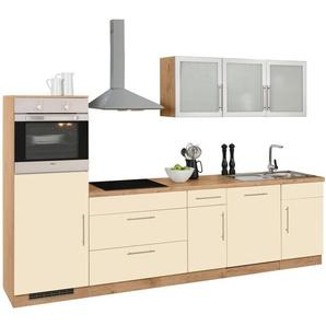 WIHO Küchen Küchenzeile »Aachen« mit E-Geräten, Breite 300 cm