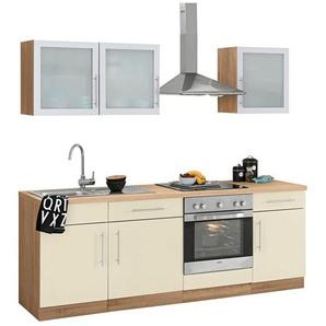 wiho Küchen Küchenzeile »Aachen«, ohne E-Geräte, Breite 220 cm