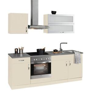 wiho Küchen Küchenzeile »Amrum«, mit E-Geräten, Breite 210 cm