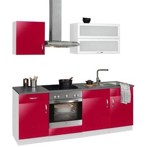 WIHO Küchen Küchenzeile mit E-Geräten »Amrum«, Breite 210 cm
