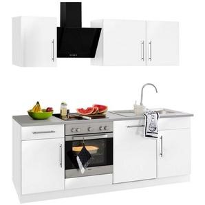 Küchenzeile »Cali« mit E-Geräten, Breite 220 cm mit Metallgriffen
