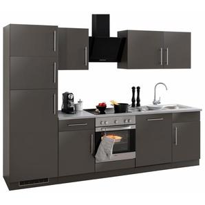 Küchenzeile »Cali« mit E-Geräten und Kühl-Gefrierkombination, Breite 280 cm