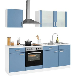wiho Küchen Küchenzeile »Husum«, ohne E-Geräte, Breite 220 cm