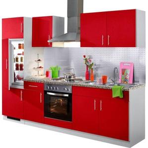 Küchenzeile »Kiel«, mit E-Geräten, Breite 270 cm, Tiefe 60 cm