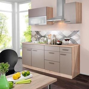 wiho Küchen Küchenzeile »Montana«, mit E-Geräten, Breite 200 cm