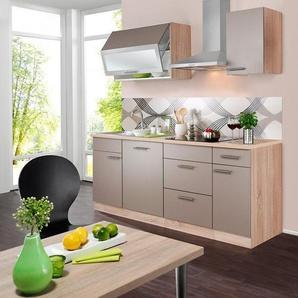wiho Küchen Küchenzeile »Montana«, mit E-Geräten, Breite 210 cm