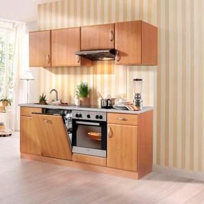 wiho Küchen Küchenzeile »Prag«, mit E-Geräten, Breite 220 cm