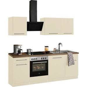 wiho Küchen Küchenzeile »Unna«, mit E-Geräten, Breite 220 cm