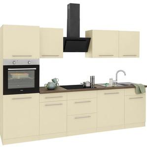 wiho Küchen Küchenzeile »Unna«, mit E-Geräten, Breite 280 cm