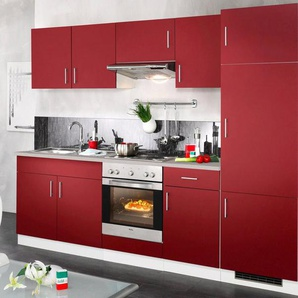 wiho Küchen Küchenzeile »Valencia«, mit E-Geräten, Breite 270 cm