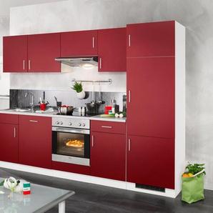 wiho Küchen Küchenzeile »Valencia, Set 2«, mit E-Geräten, Breite 280 cm