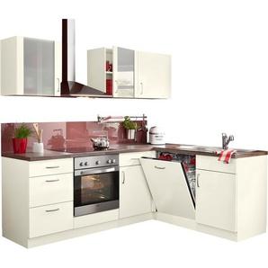 wiho Küchen Winkelküche »Brüssel«, mit E-Geräten, Stellbreite 220 x 170 cm mit 38 mm starker Arbeitsplatte