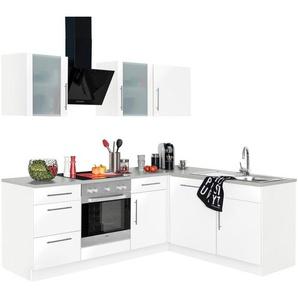 wiho Küchen Winkelküche »Cali«, mit E-Geräten, Stellbreite 220 x 170 cm
