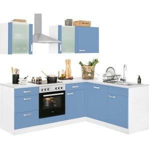 wiho Küchen Winkelküche »Husum«, mit E-Geräten, Stellbreite 220 x 170 cm