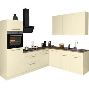 wiho Küchen Winkelküche »Unna«, mit E-Geräten, Stellbreite 260 x 220 cm