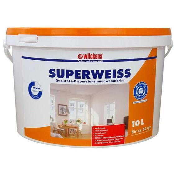Wilckens Dispersionsfarbe Superweiss, 10 Liter, für Innenräume