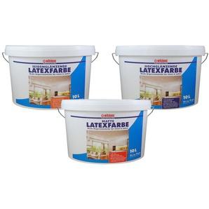 Wilckens Latexfarbe, 10 Liter, in matt, seidenglänzend oder hochglänzend, Farbe weiß