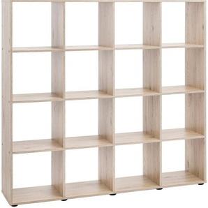 Raumteiler-Regal »mit 16 Fächer«, Maße 138,5x29x143 cm
