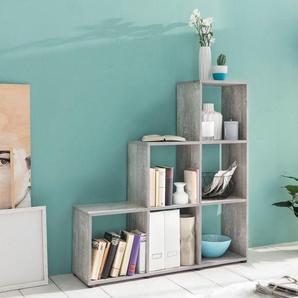 Raumteiler und Treppenregal »mit 6 Fächern«, Maße104,5x29x108 cm