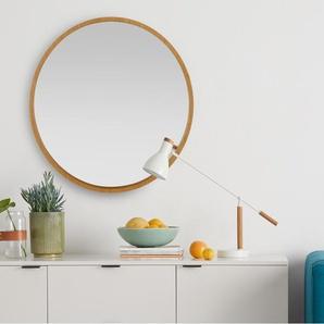Wilson runder Spiegel (80 cm), Eiche