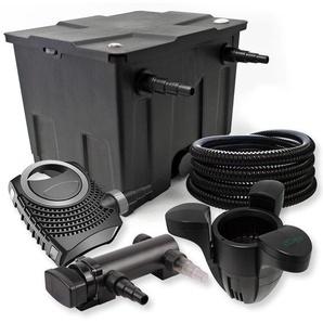 SunSun 1-Kammer Filter Set 12000l 18W UV Teich Klärer NEO7000 50W Pumpe Schlauch Skimmer - WILTEC