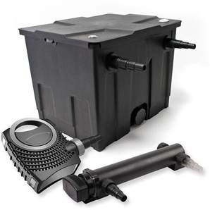 SunSun 1-Kammer Filter Set für 12000l mit 24W UVC 3er Teich Klärer und NEO7000 50W Pumpe - WILTEC