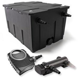 SunSun 1-Kammer Filter Set für 60000l mit 18W UVC 3er Teich Klärer und NEO7000 50W Pumpe - WILTEC