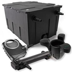 SunSun 1-Kammer Filter Set für 60000l mit 24W UVC 3er Teich Klärer NEO7000 50W Pumpe und Skimmer - WILTEC