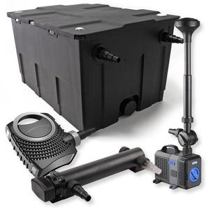 SunSun 1-Kammer Filter Set für 60000l mit 24W UVC Teich Klärer NEO7000 50W Pumpe Springbrunnen - WILTEC