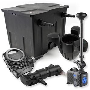 SunSun 1-Kammer FilterSet 12000l 24W UVC Teich Klärer NEO7000 50W Pumpe Springbrunnen Skimmer - WILTEC