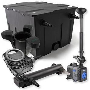 SunSun 1-Kammer FilterSet für 60000l mit 24W UVC Teich Klärer NEO7000 50W Springbrunnen Skimmer - WILTEC