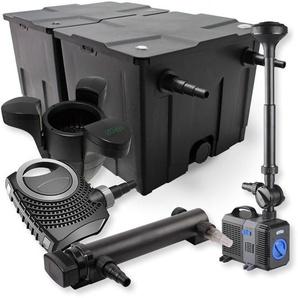 SunSun 2-Kammer Filter Set 60000l 24W UVC Teich Klärer NEO7000 50W Pumpe Springbrunnen - WILTEC