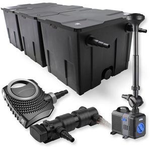 SunSun 3-Kammer Filter Set 90000l 18W UVC Teich Klärer NEO7000 50W Pumpe Springbrunnen - WILTEC