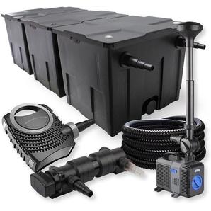 SunSun 3-Kammer FilterSet 90000l 18W UVC Teich Klärer NEO7000 50W Pumpe Schlauch Springbrunnen - WILTEC